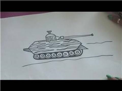 Drawing Tutorial : How to Draw a Military Tank