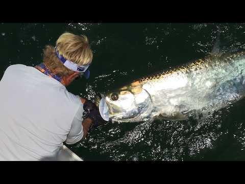 Boca Grande Fishing For Tarpon Fish On The Beach