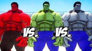 HULK vs RED HULK vs GREY HULK - Epic Battle
