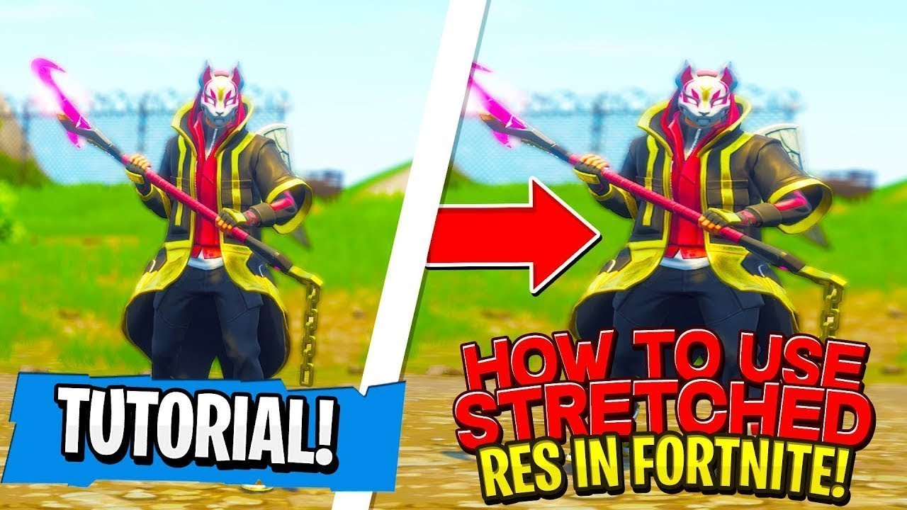 HOW PLAY STRETCHED RES 1440X1080 XBOX/PS4/PC *Fortnite Battle Royale*