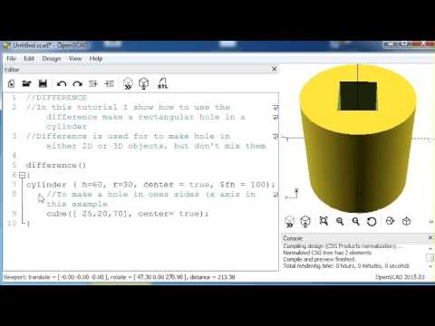 Open SCAD - Creating a Clock with the Offset Command! by