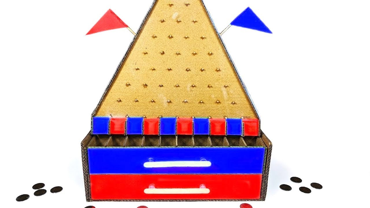 How To Make Plinko Game From Cardboard At Home