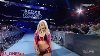 Sexy Alexa Bliss Homecoming Entrance / Sasha Banks stink-eye? WWERAW Mickie James