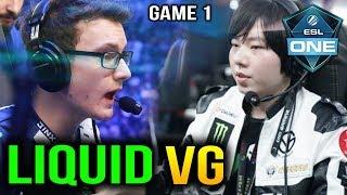 LIQUID vs VG - DOMINATION!! ESL One Birmingham 2018 GAME 1