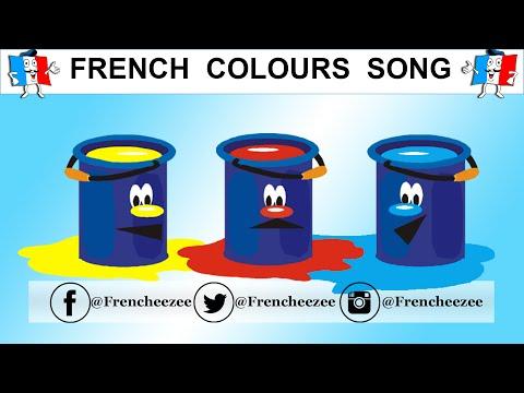 Learn French - Colours Song With Animation - Les couleurs de l'arc-en-ciel en chanson