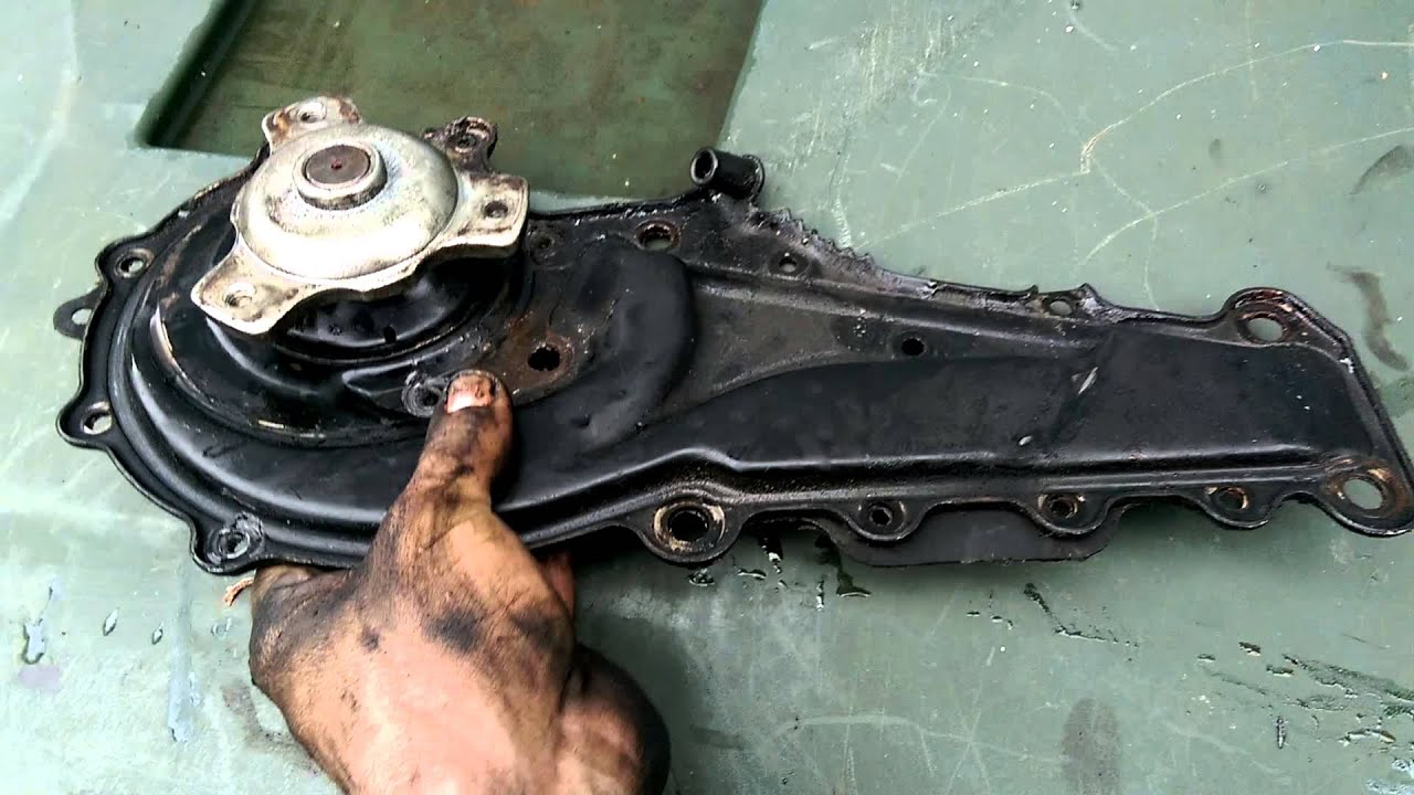 1995 Cadillac Deville 4.9 V8 failed water pump - YouTube