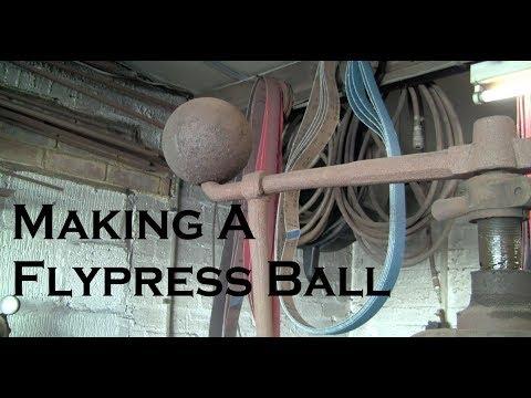 Making a flypress weight / ball.
