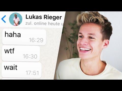 WhatsApp PRANK an Lukas Rieger 😂😂