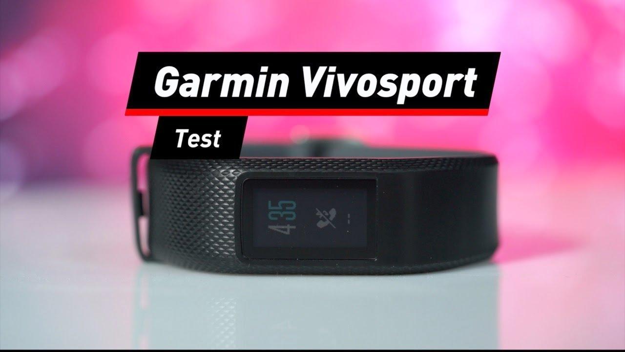 garmin vivosport schlankes fitness armband im test youtube