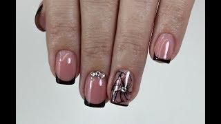 Коррекция на коротких ногтях+ перманентный френч