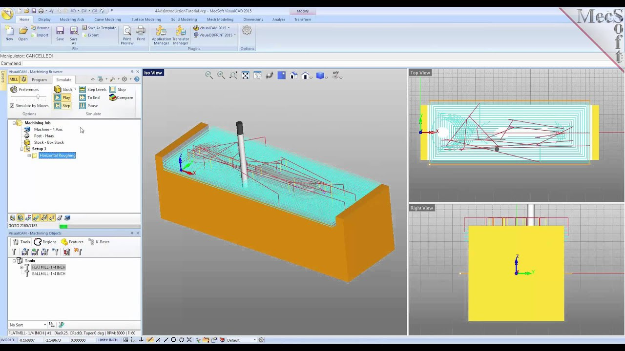Introduction Tutorials for 4 Axis Machining   MecSoft Corporation