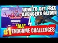 DEAL DAMAGE WHILE HOVERING WITH IRON MAN'S REPULSORS & ALL ENDGAME CHALLENGES REWARDS (Fortnite)