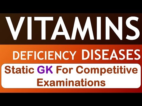 Vitamins and their deficiency diseases - Static GK for Entra