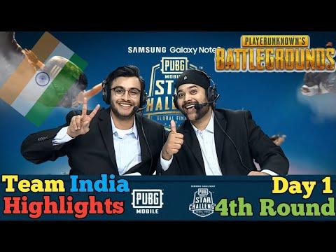 Pubg Mobile Star Challenge Dubai Match Highlight 4th Round Day 1✔️Team India Terror Vs RRQ Vs Evos