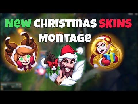 New Christmas Skins Montage - Santa Draven, Ambitious Elf Jinx, Snow Fawn Poppy - League of Legends
