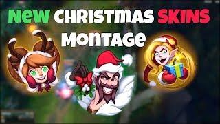 New Christmas Skins Montage - Santa Draven, Ambitious Elf Jinx, Snow Fawn Poppy - League of Legends