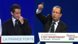 Sarkozy et Hollande: leurs gestes parlent