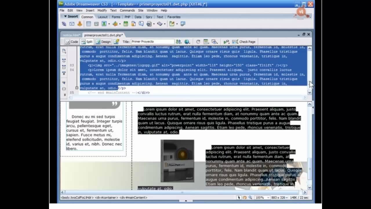 020.- Curso DWCS3. Usar plantillas en un sitio PHP - YouTube