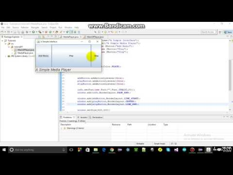 How to make a music player in java using Eclipse : Part#2