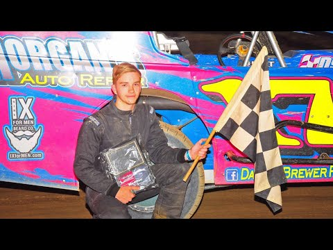 Dayton Brewer Modified Feature Win | Woodhull Raceway | 7-7-18