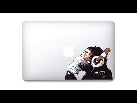 Banksy Thinker Monkey How To Apply Sticker On MacBook Lid