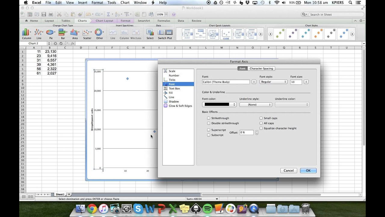 Making a Semi Log Graph in Excel - YouTube