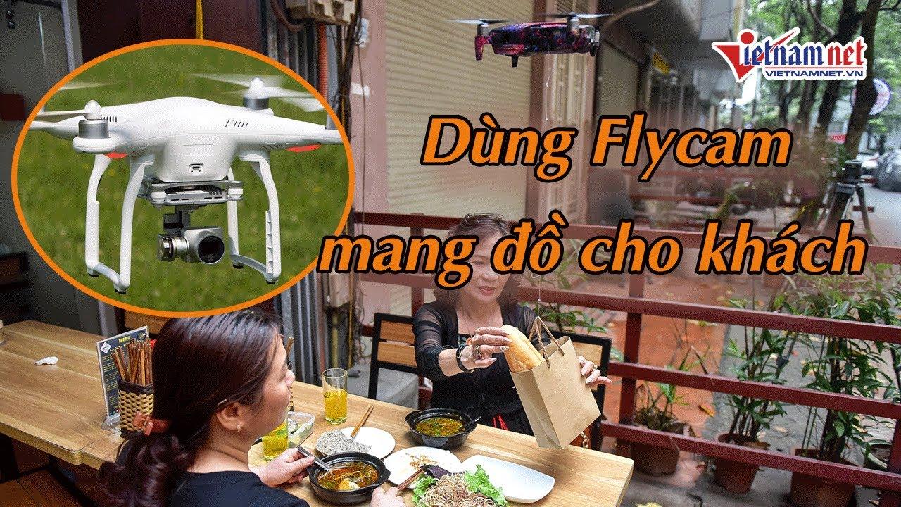 Quán ăn Hà Nội dùng Flycam chuyển đồ ăn cho khách hạn chế lây lan dịch Covid-19 | Tin tức Vietnamnet