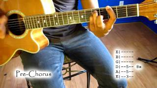 """How to play """"Rolling In The Deep"""" by Adele (No Capo)"""
