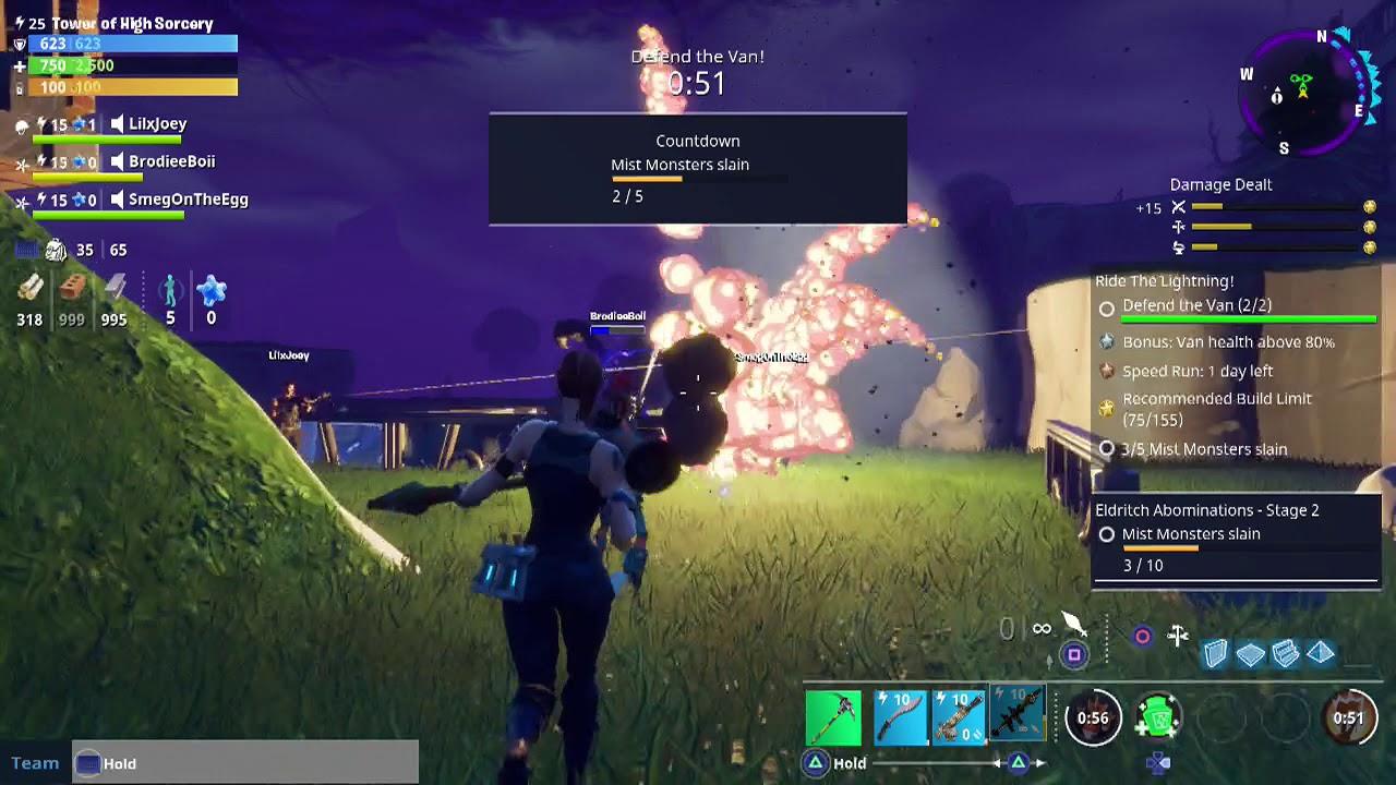 Fortnite Centurion Hero Defend Van Defeat Mist Monster