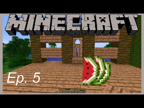 """Let's Play Minecraft Ep.5 """"The search for more food"""""""