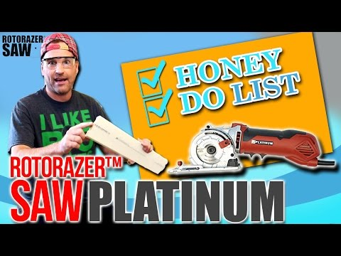 DIY Home Repair Projects 📝 How to Bust Out Your Honey Do List with Rotorazer Platinum Handheld Saw