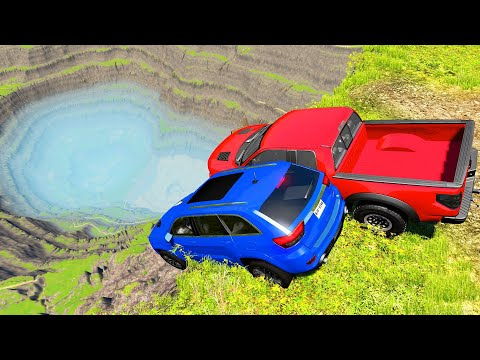 Falling Off a Cliff Simulation - BeamNG Drive Crashes | Gaming Media