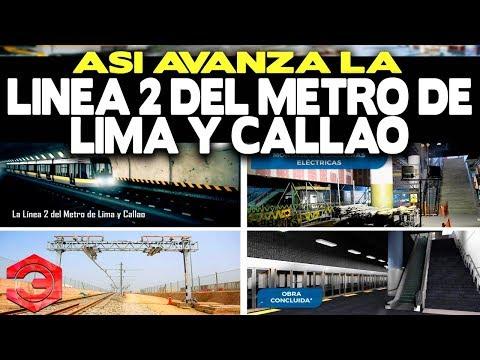 Así Avanza la Línea 2 del Metro de Lima y Callao