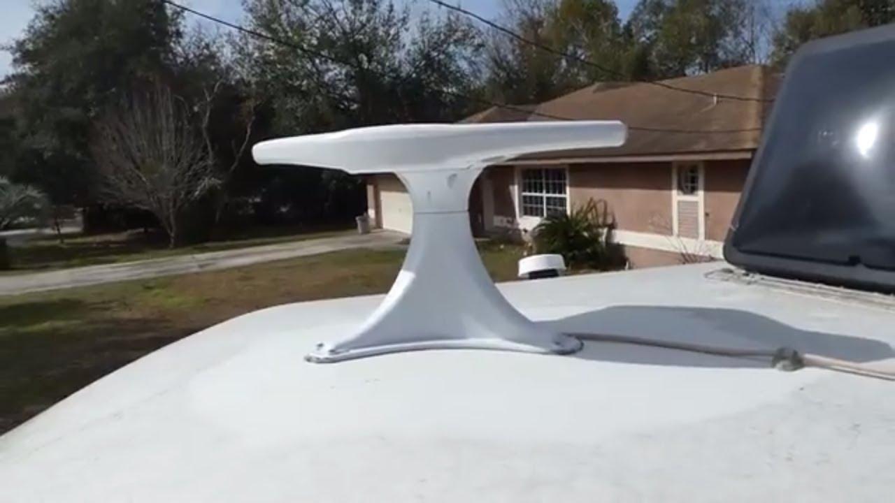 Installing The King Jack Antenna On Our 2001 Roadtrek 190 Versatile Youtube