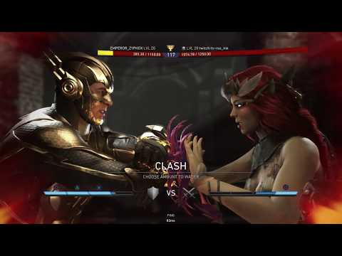 Injustice 2 - REO (Poison Ivy) VS Zyphox (The Flash) Online Matches