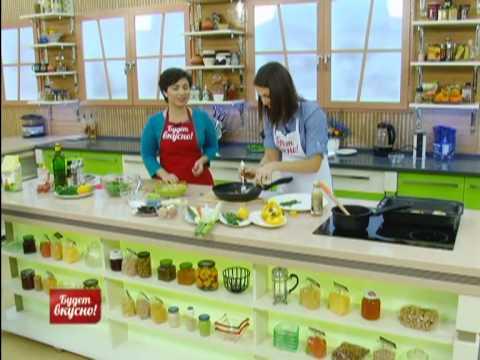 Недорогой рецепт Будет вкусно 11/12/13 Салат с квиноа, рыба на овощной подушке, шоколадный кекс. GuberniaTV