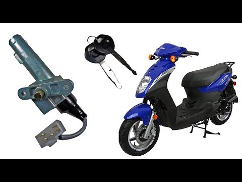 How to replace the ignition lock key switch in a scooter - YouTube