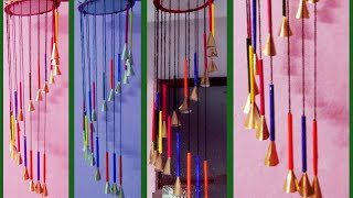 Beautiful !!! wind chime at home | wall hanging | news pepper  craft idea |