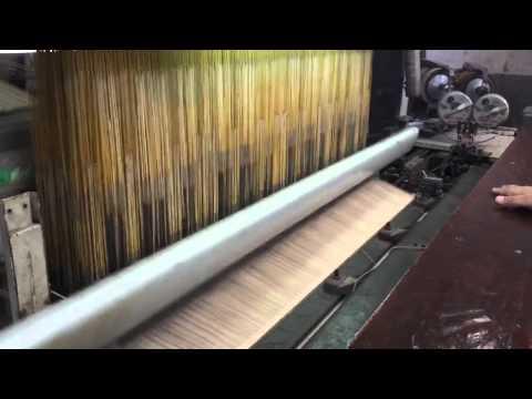 Jacquard loom making a custom velvet Damask for the K-club