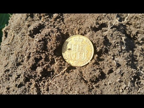 Metal Detecting Finds Uk ( 53 ) My First Gold Coin Find. get in there :-D HD