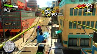 Sunset Overdrive Free Roam Gameplay
