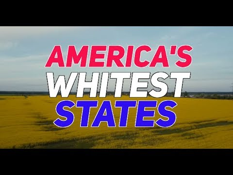 The 10 WHITEST STATES In AMERICA