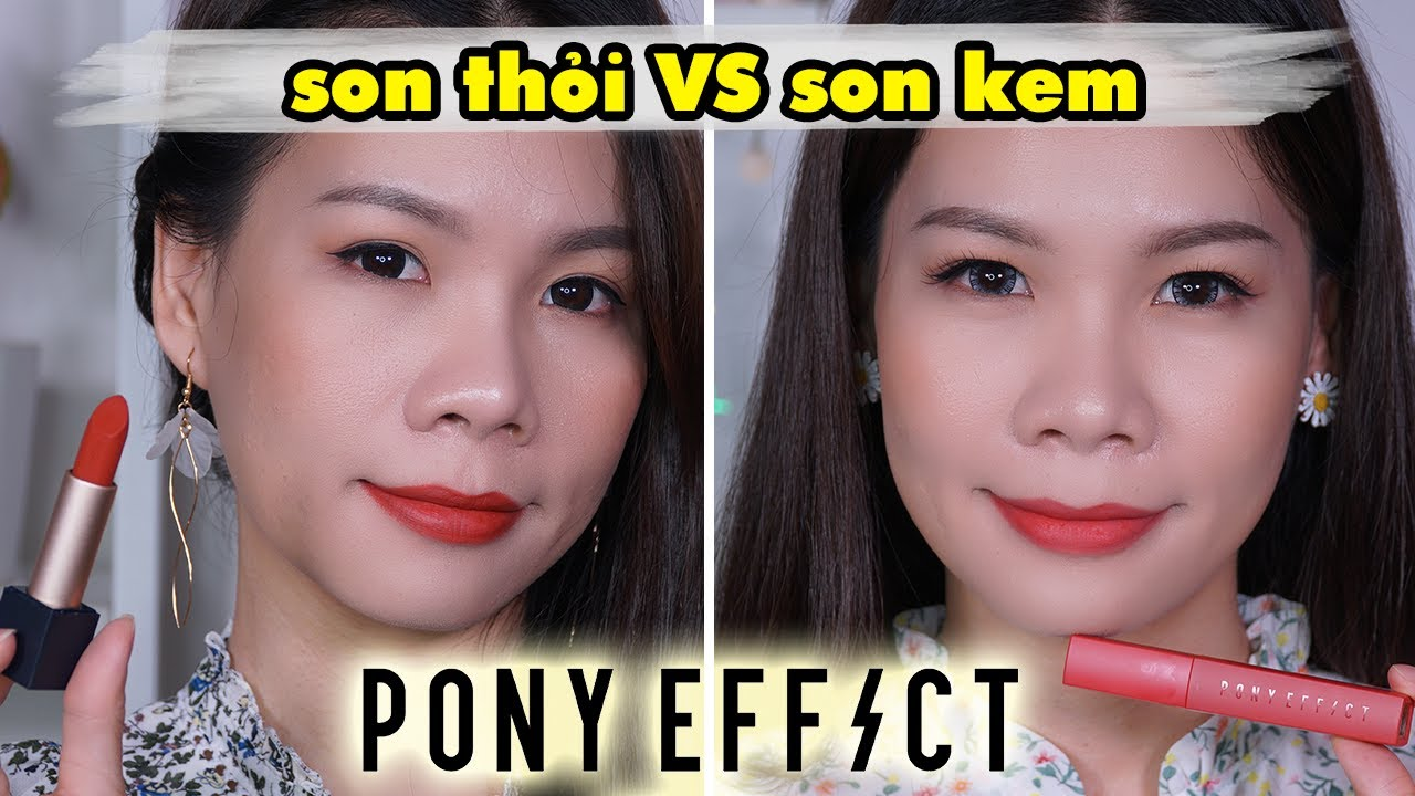 [Review + So sánh] son Pony Effect Powdery Whisper Lipstick và son Powder Touch Lip Color