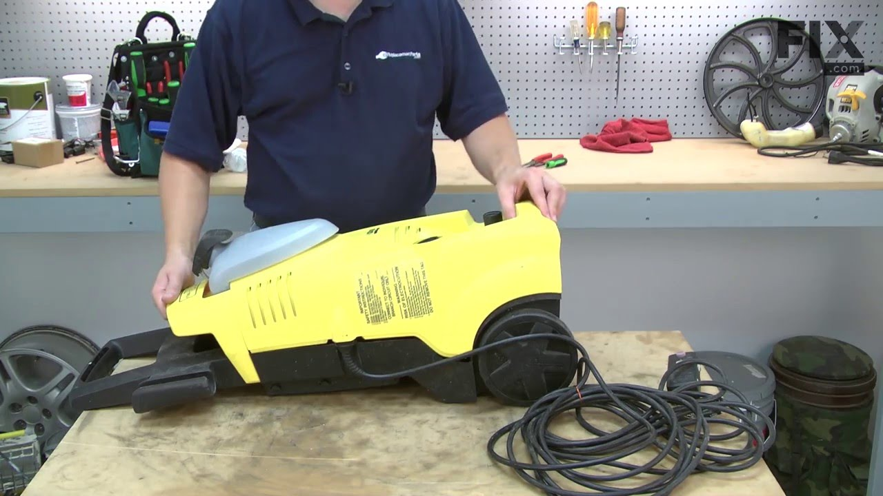 karcher pressure washer repair how to replace the motor capacitor youtube [ 1280 x 720 Pixel ]