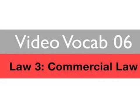 Learn Business English ESL Vocabulary: Commercial Law, 1