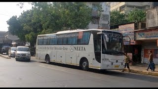 Super Luxurious Mercedes Benz Buses Connecting Mumbai & Pune Cities in India