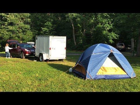 Camping at Lake Fairfax Activities:  Thule Force Cargo Box & Riverbend Park