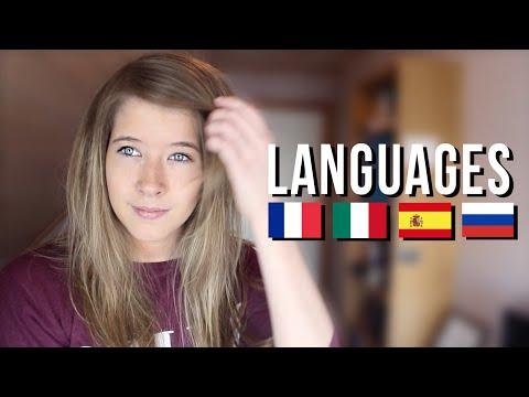 Speaking French, Russian, Italian and Spanish!