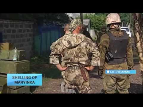 Village of Maryinka Shelled: Militant forces keep attacking Ukrainian positions along contact line
