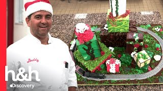 ¡Pastel navideño con tren incluido! | Cake Boss | Discovery H&H thumbnail